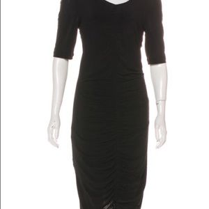 Burberry Dresses - Burberry sheer ruched body con midi dress